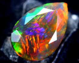 1.76cts Natural Ethiopian Faceted Smoked Black Opal / BF1926