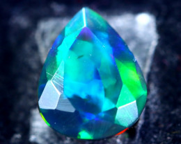 1.92cts Natural Ethiopian Faceted Smoked Opal / BF1932