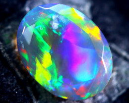 1.20cts Natural Ethiopian Faceted Smoked Opal / BF1936