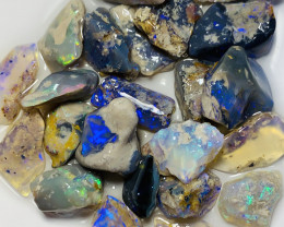 NOBBY CRYSTAL ROUGH OPALS TO GAMBLE- 65 CTS #398