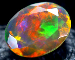 1.50cts Natural Ethiopian Faceted Smoked Black Opal / HM197