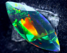 1.89cts Natural Ethiopian Faceted Smoked Opal / HM202