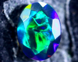 0.87cts Natural Ethiopian Faceted Smoked Opal / HM205
