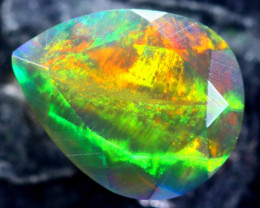 1.69cts Natural Ethiopian Faceted Smoked Opal / HM208