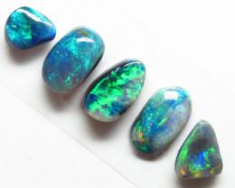2.44t Lightning Ridge Black  Opal 5 stone Parcel