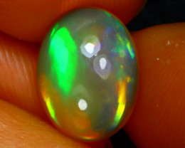Welo Opal 2.34Ct Natural Ethiopian Play of Color Opal J2402/A44