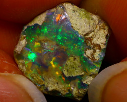 6.62Ct Multi Color Play Ethiopian Welo Opal Rough J2412/R2