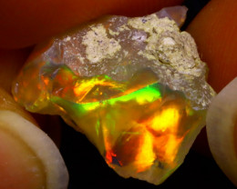 5.67Ct Multi Color Play Ethiopian Welo Opal Rough J2415/R2