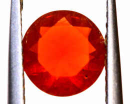 0.70 CTS MEXICAN FIRE OPAL FACETED STONE  FOB -2143