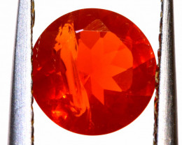 0.85 CTS MEXICAN FIRE OPAL FACETED STONE  FOB -2144