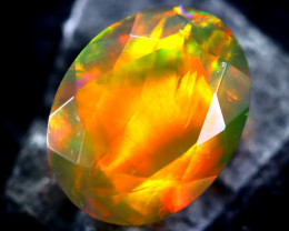 1.48cts Natural Ethiopian Faceted Smoked Opal / HM213