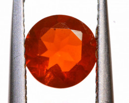 0.57 CTS MEXICAN FIRE OPAL FACETED STONE  FOB -2158