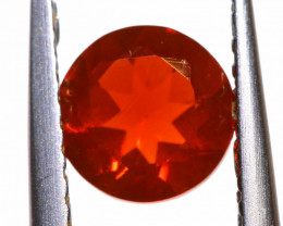 0.55 CTS MEXICAN FIRE OPAL FACETED STONE  FOB -2164