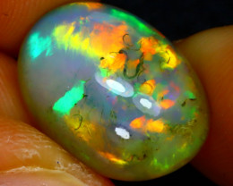 Welo Opal 6.20Ct Natural Ethiopian Play of Color Opal J2611/A44