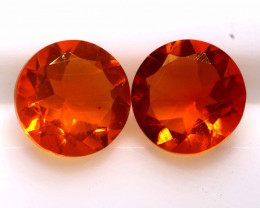 1.05 CTS MEXICAN FIRE OPAL FACETED STONE  PAIR FOB -2170-fireopalbeads