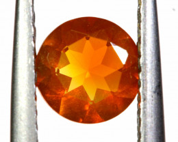 0.58 CTS MEXICAN FIRE OPAL FACETED STONE   FOB -2185