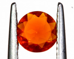 0.42 CTS MEXICAN FIRE OPAL FACETED STONE   FOB -2191