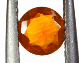 0.31 CTS MEXICAN FIRE OPAL FACETED STONE   FOB -2195