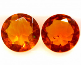 0.65 CTS MEXICAN FIRE OPAL FACETED STONE PAIR  FOB -2202