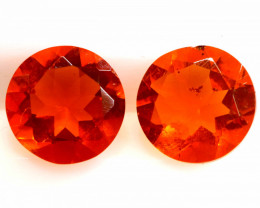1 CTS MEXICAN FIRE OPAL FACETED STONE PAIR  FOB -2211