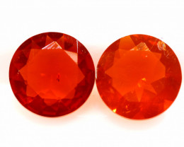1 CTS MEXICAN FIRE OPAL FACETED STONE PAIR  FOB -2213