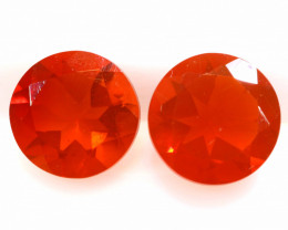 1.10 CTS MEXICAN FIRE OPAL FACETED STONE PAIR  FOB -2216