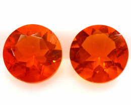 1.15CTS MEXICAN FIRE OPAL FACETED STONE PAIR  FOB - 2218