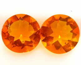 0.99 CTS MEXICAN FIRE OPAL FACETED STONE PAIR  FOB -2220