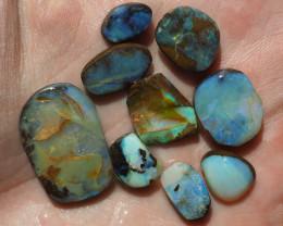 Australian Boulder Opal, Lot of rubs, 58.82 carats