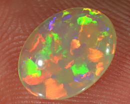 0.85ct 9x7mm Solid Lightning Ridge Crystal Opal [LO-2375]