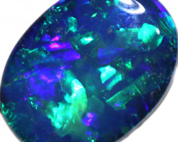 3.05 CTS OPAL SHELL FOSSIL DOUBLET   [SEDA7264]