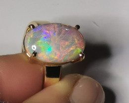 EXQUISITE OPAL RING 14K GOLD Hand made