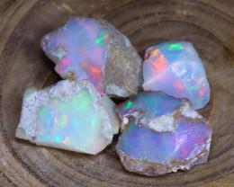 Welo Rough Opal 21.27Ct Natural Ethiopian Faceted Grade Opal E2703