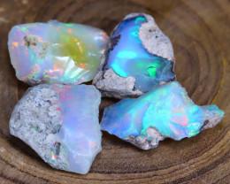 Welo Rough Opal 30.84Ct Natural Ethiopian Faceted Grade Opal E2708