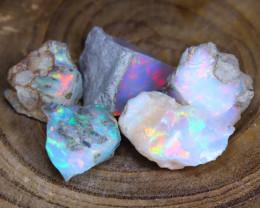Welo Rough Opal 25.18Ct Natural Ethiopian Faceted Grade Opal E2709