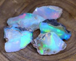 Welo Rough Opal 18.88Ct Natural Ethiopian Faceted Grade Opal E2805