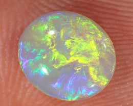0.88ct 7.7x6.7mm Solid Lightning Ridge Crystal Opal [LO-2377]