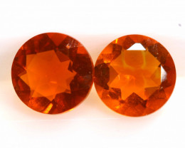 0.66CTS MEXICAN FIRE OPAL FACETED STONE PAIR  FOB -2258