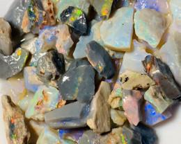 Multi Colour Rough Seam Opal - Small Bright Cutters