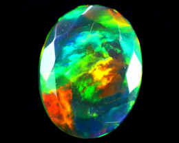 1.43cts Natural Ethiopian Faceted Smoked Opal / HM283