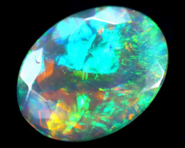 1.18cts Natural Ethiopian Faceted Smoked Opal / HM286