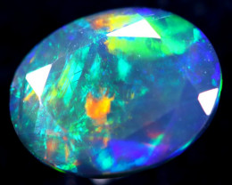 1.30cts Natural Ethiopian Faceted Smoked Opal / HM289