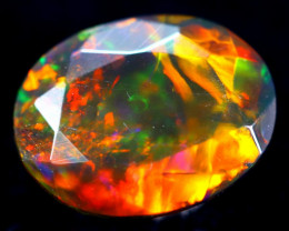 1.30cts Natural Ethiopian Faceted Smoked Opal / HM272