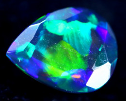 1.21cts Natural Ethiopian Faceted Smoked Opal / HM278