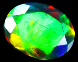 1.54cts Natural Ethiopian Faceted Smoked Opal / BF2047