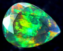 0.98cts Natural Ethiopian Faceted Smoked Opal / BF2050