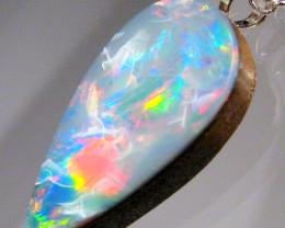Australian Opal Pendant Solid Sterling Silver 5.7ct Doublet