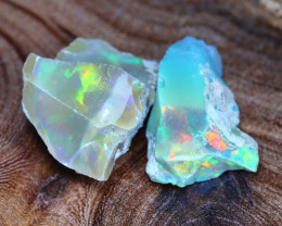 Welo Rough 18.73Ct Natural Ethiopian Gamble Rough Opal Cab Specimen E3101
