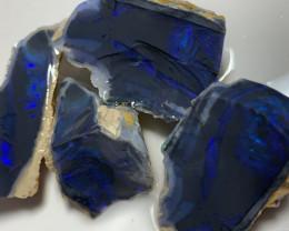 BLUE ON BLAVK SEAM OPAL ROUGH - 81 CTS #466
