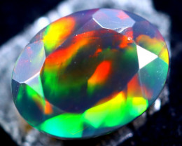 1.27cts Natural Ethiopian Smoked Faceted Opal / HM293